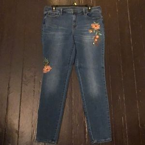 Old Navy Rockstar Jeans with Floral Detail